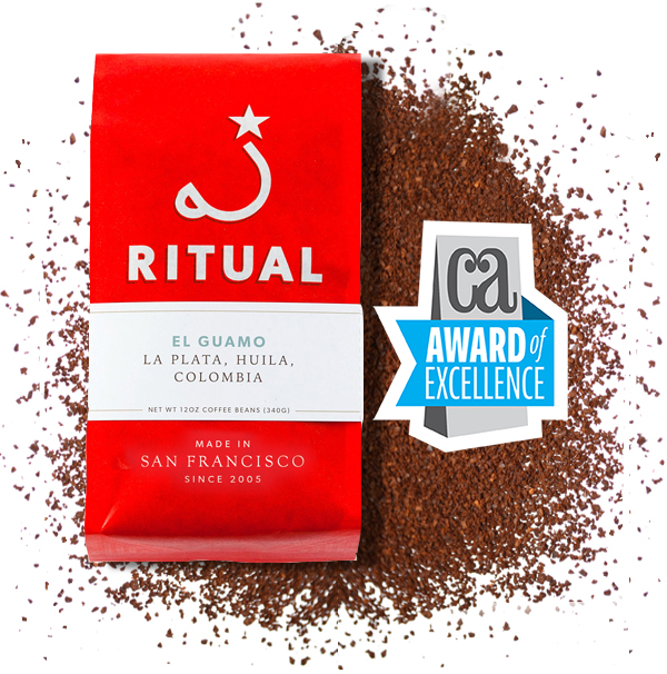 San Francisco Branding Agency, Good Stuff Partners wins award of excellence for Ritual Coffee packaging redesign