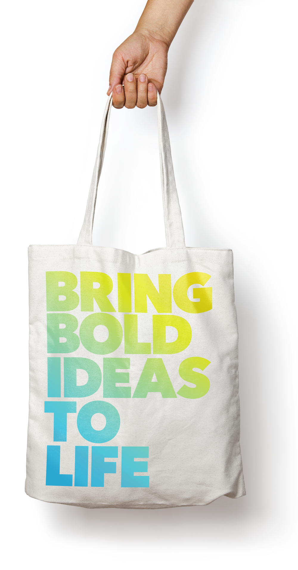 Tides Foundation brand identity logo tote bag design by Good Stuff Partners, a branding firm in San Francisco.