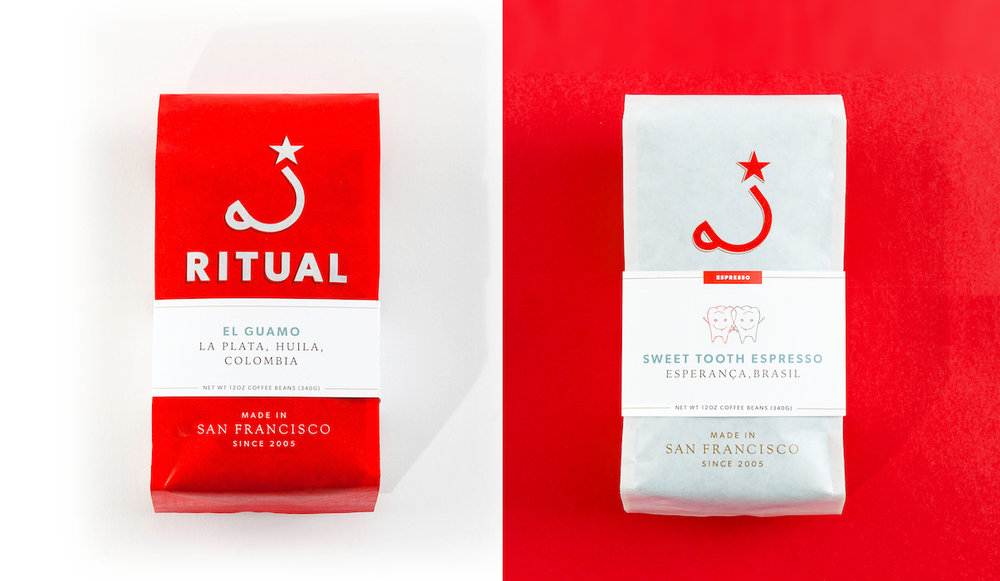 Ritual Coffee branding and packaging bag design by Good Stuff Partners