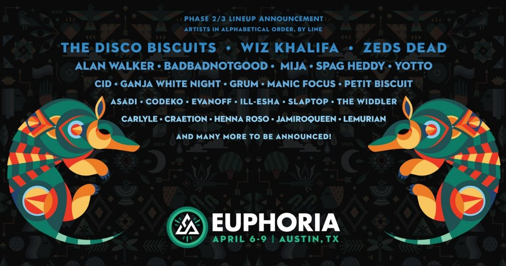 Euphoria Phase 2 Lineup