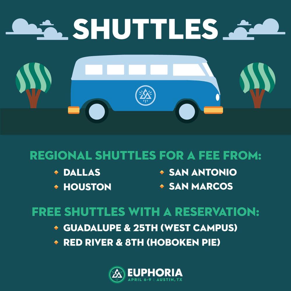 Euphoria 2017 Shuttles