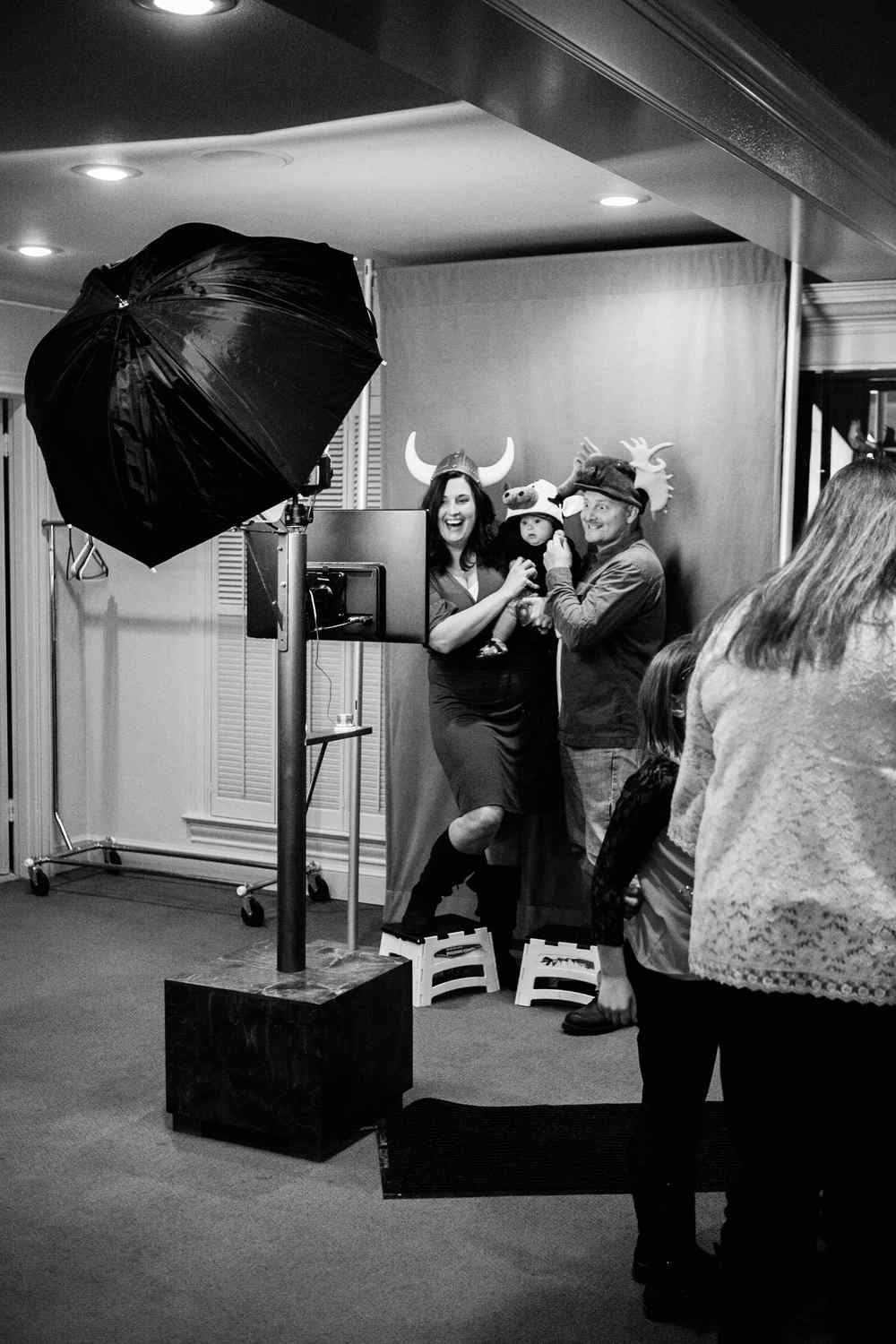 Guests using Peter M Studios photo booth rental at Lubbock womens club