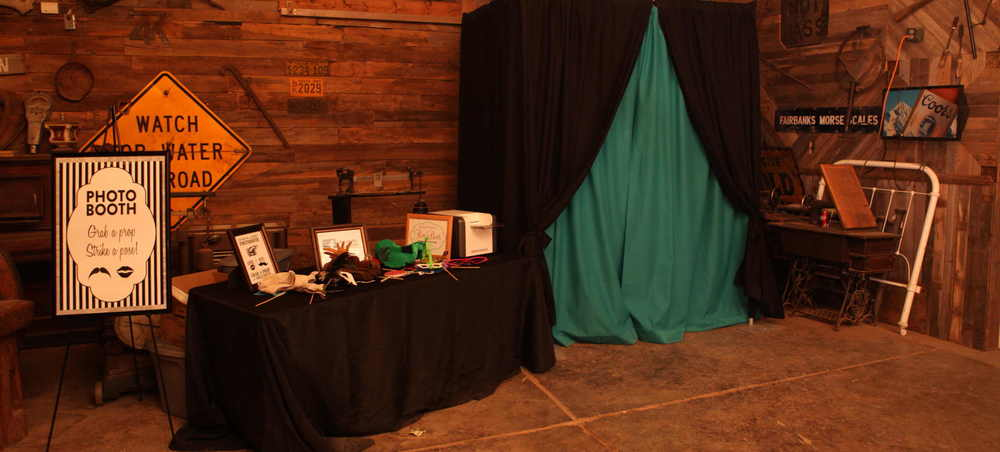 Peter M Studios Lubbock enclosed photo booth rental