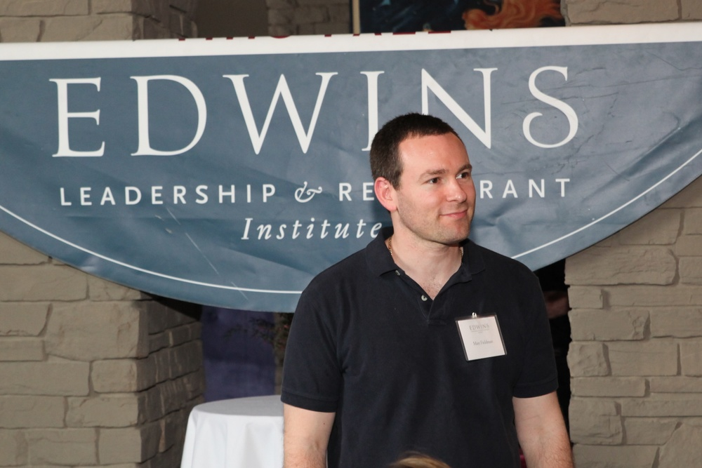 Matt enjoys the first graduation of 23 students from the EDWINS program in April, 2014.