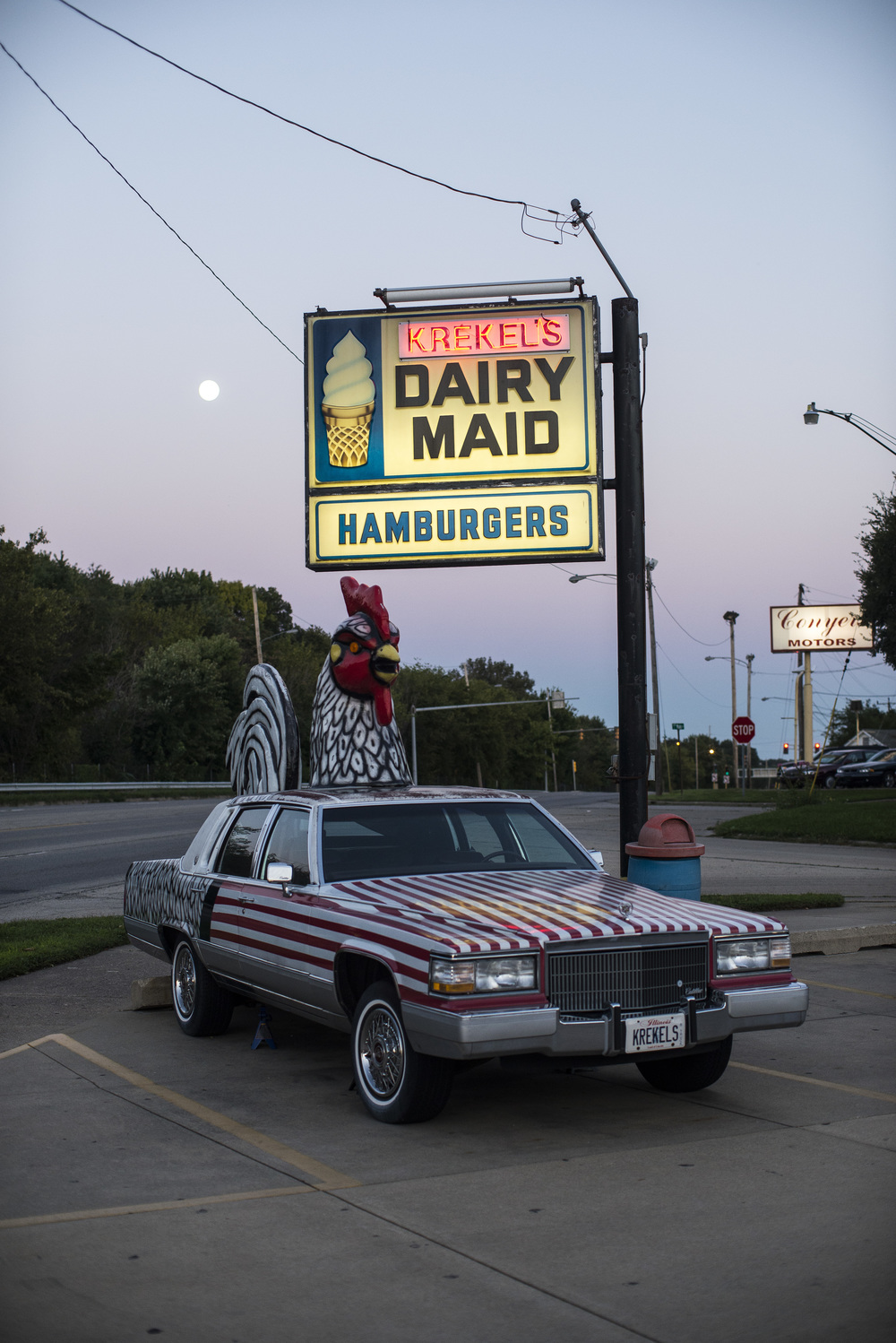 """Krekel's Dairy Maid"" fast food restaurant. Decatur, Ill.  2014"