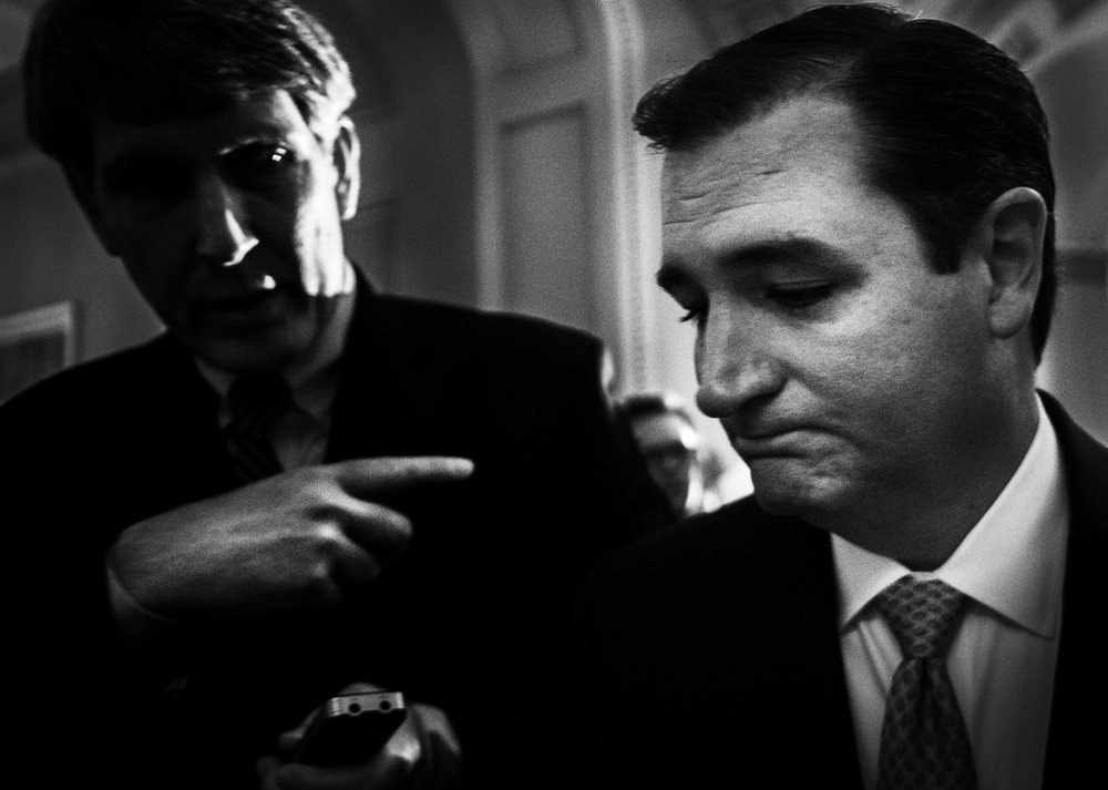 """Unfortunately, the Washington establishment is failing to listen to the American people,"" said Senator Ted Cruz, Republican of Texas, as he emerges from a meeting of Senate Republicans called to ratify the agreement. In September, Mr. Cruz vowed to speak ""until I cannot stand"" to rally voters against the health care law; however, Cruz said he would not stop the senate deal from passing after much pressure to reopen the government."