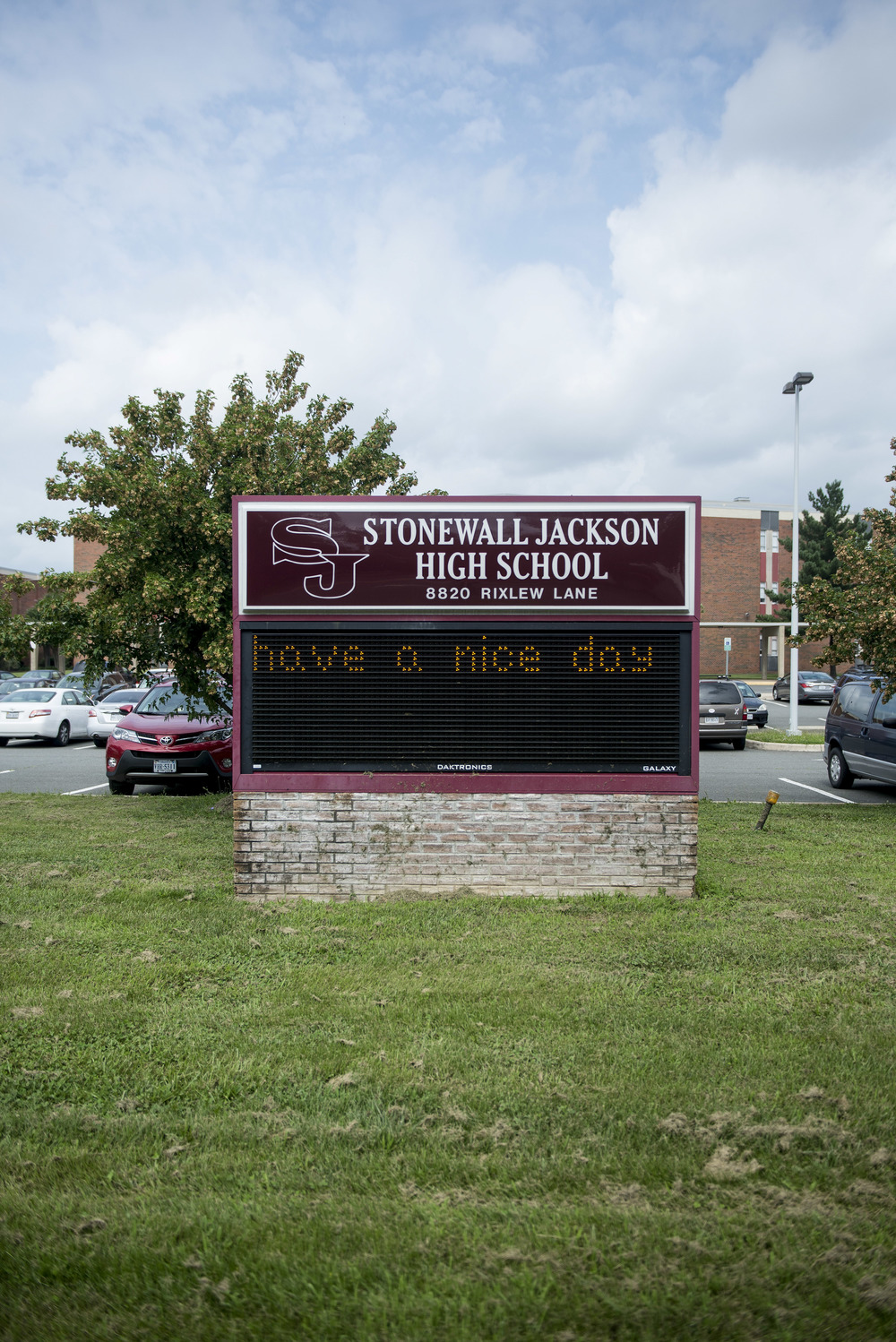 """Have a nice day."" Stonewall Jackson High School. Manassas, Va. 2015"
