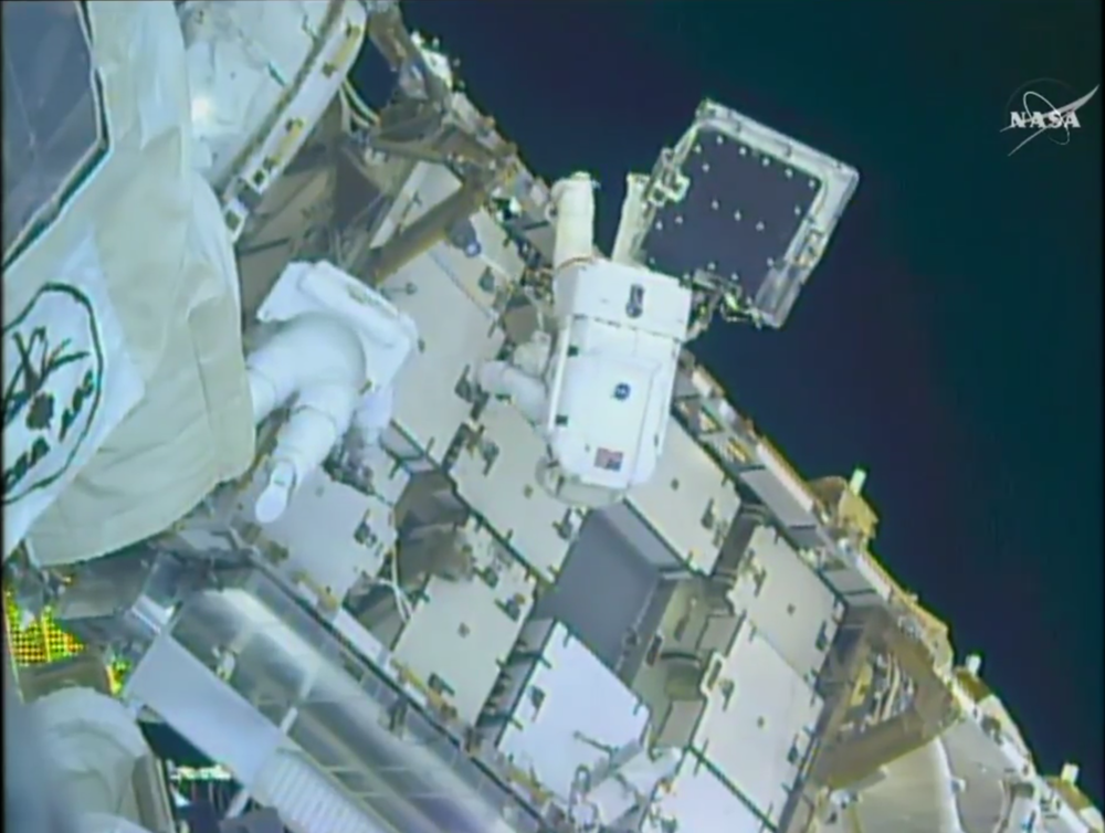 Adapter on-orbit, during installation