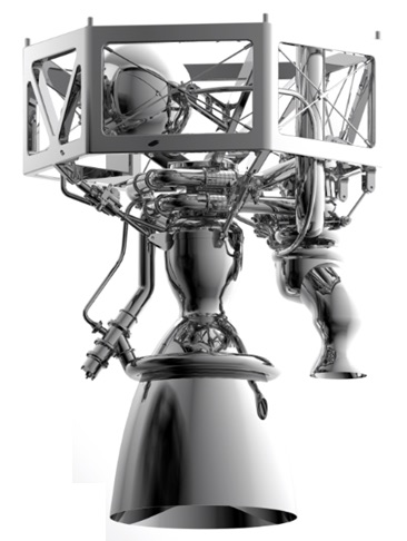 Digital render of the Prometheus engine