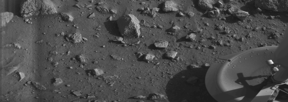 The first photo from the surface of mars, dust settling timeline included.