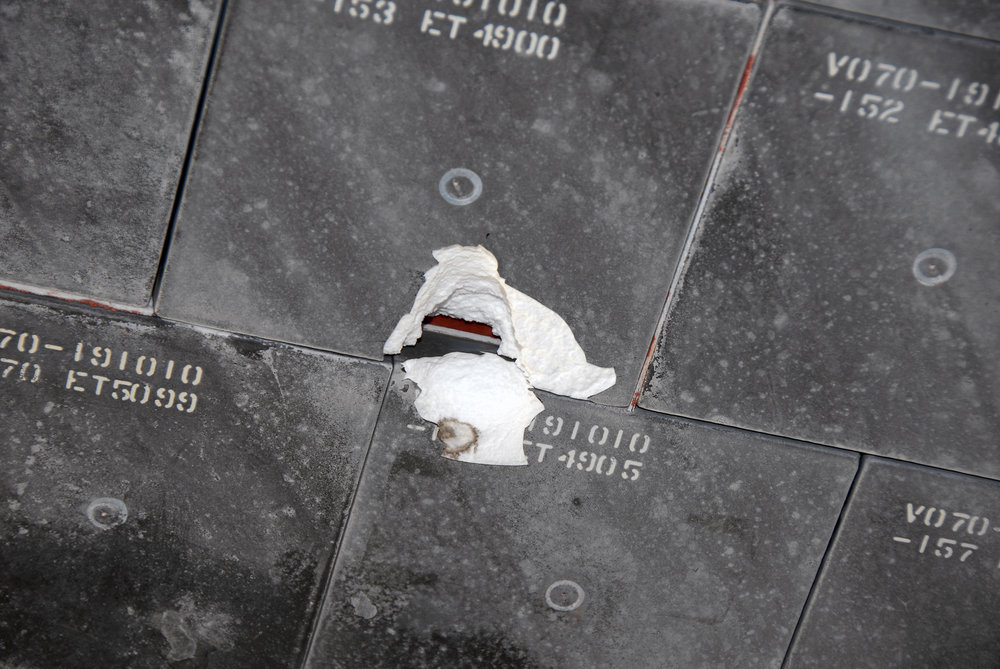 Shuttle tiles as photographed on the ground