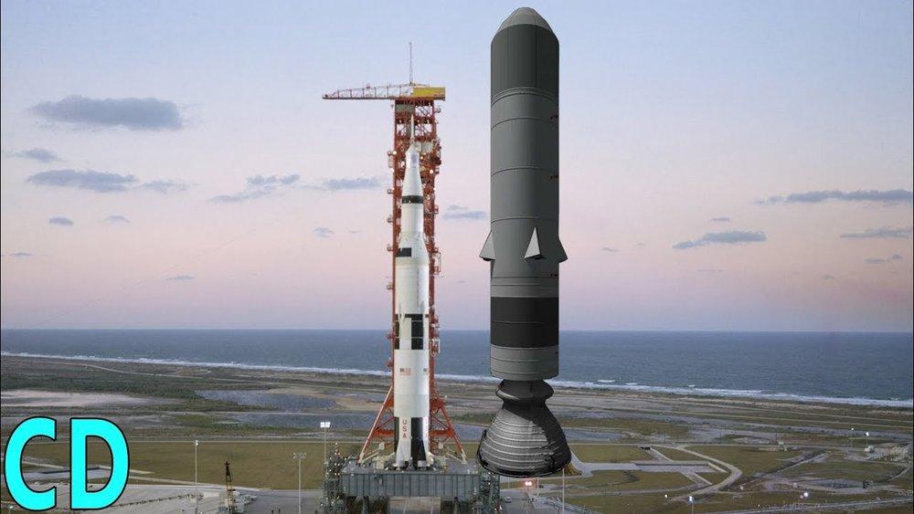 Sea Dragon compared to Saturn V