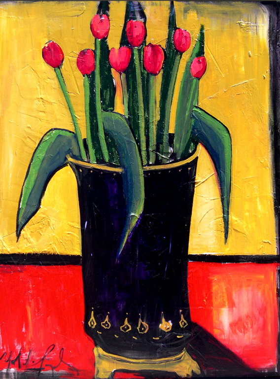 21 Tulips in Black Vase.jpg