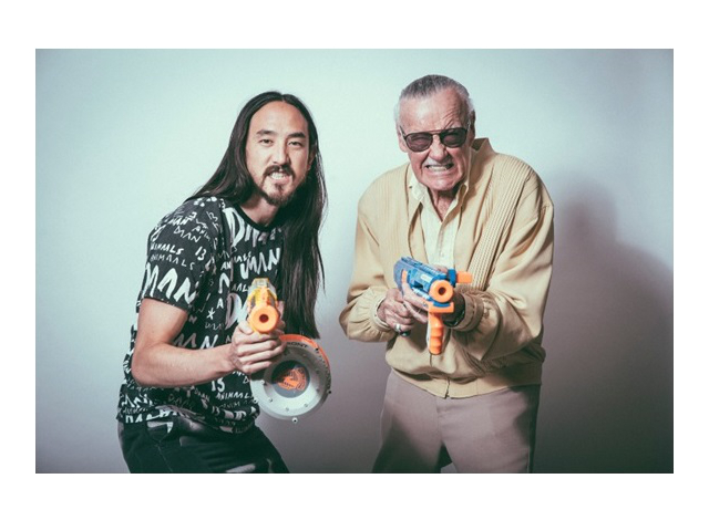 One can only dream of being lucky enough to have a Nerf gun war with Stan Lee.