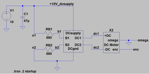 Full motor driver circuit using the internal circuit built previously