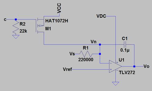 Integral compensator circuit