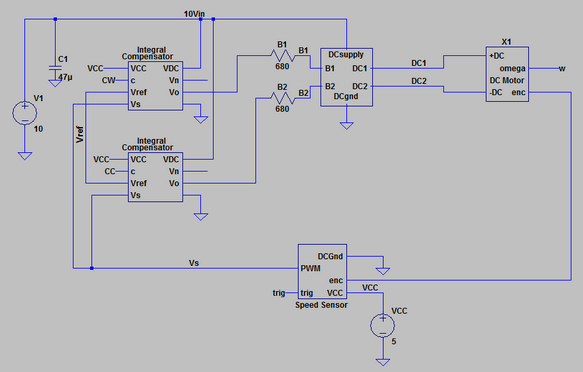 Full closed-loop speed control circuit