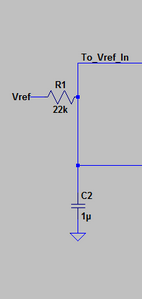 RC filter for a cleaner input signal