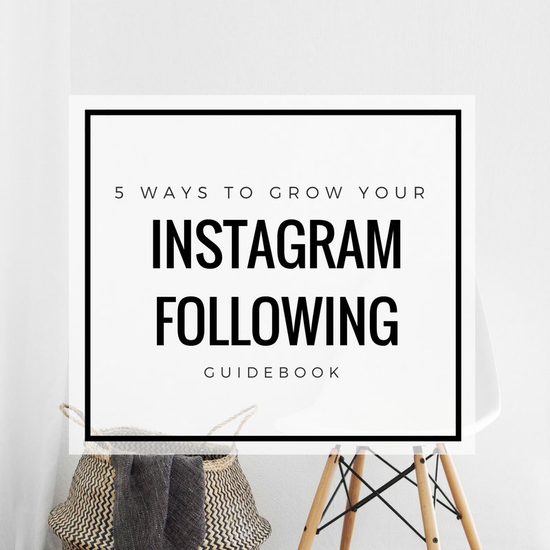 5 Ways to Grow your Instagram Following - Marketing for Small Businesses