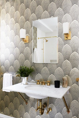 A small powder room that demands your attention.