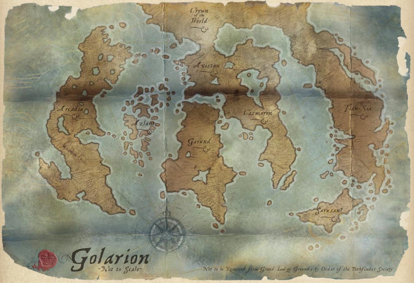 Superior The World Of Golarion: Map Collection
