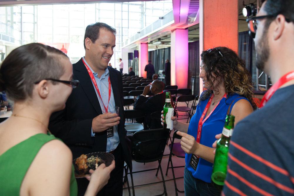 Pre-Panel chatting on Hiring in Tech, Washington, DC
