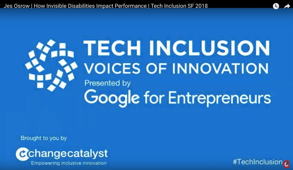 Tech Inclusion - Invisible Disabilities, Tech, and Career Tenure