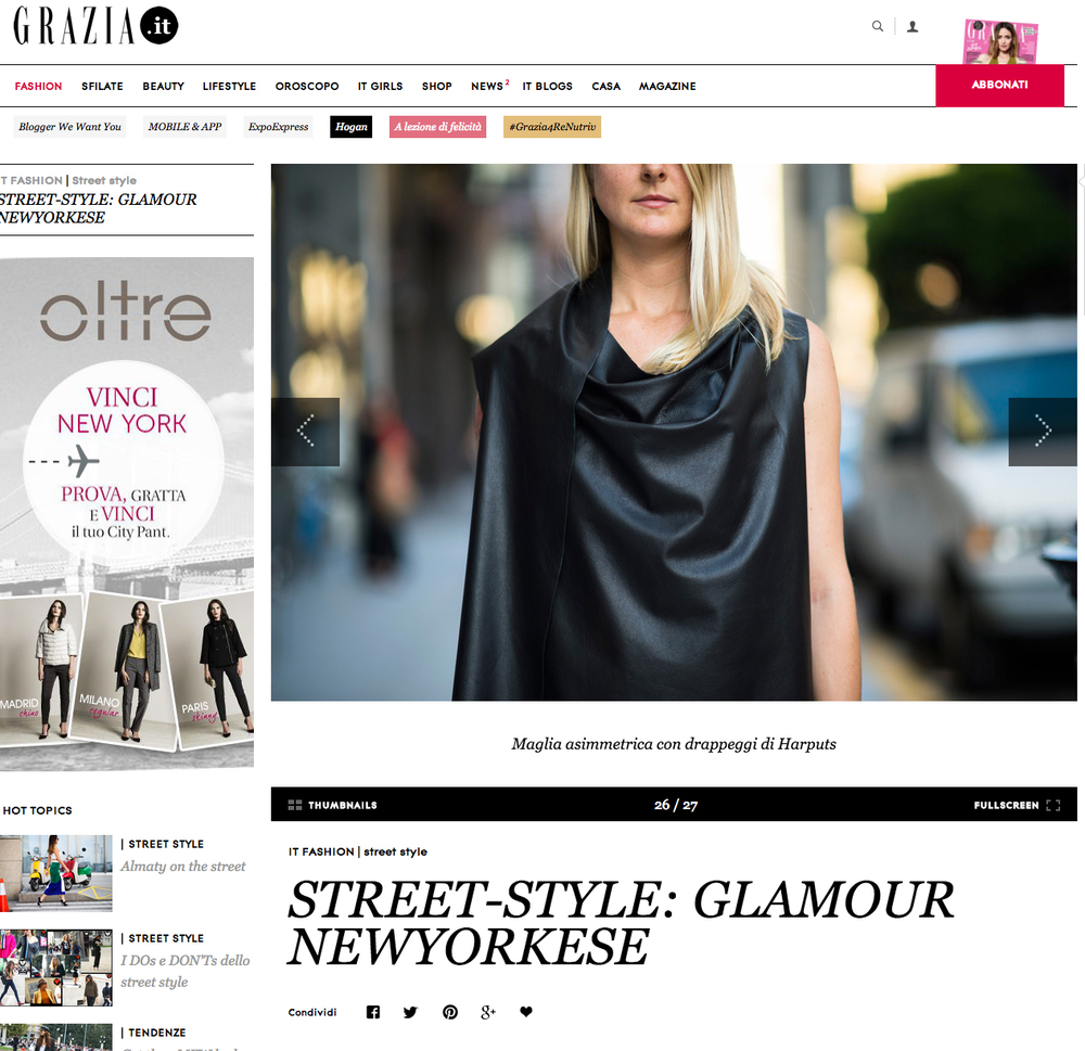 Street-style: glamour newyorkese | Grazia | December 4, 2012