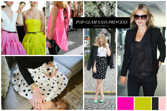 """My personal style has best been described as """"pop-glam sass princess"""". // images found in my style moodboardon pinterest"""