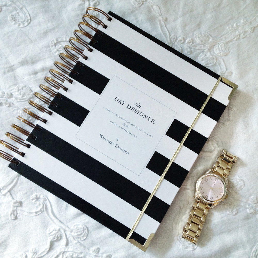 keeping organized with ziedarling.com // day designer