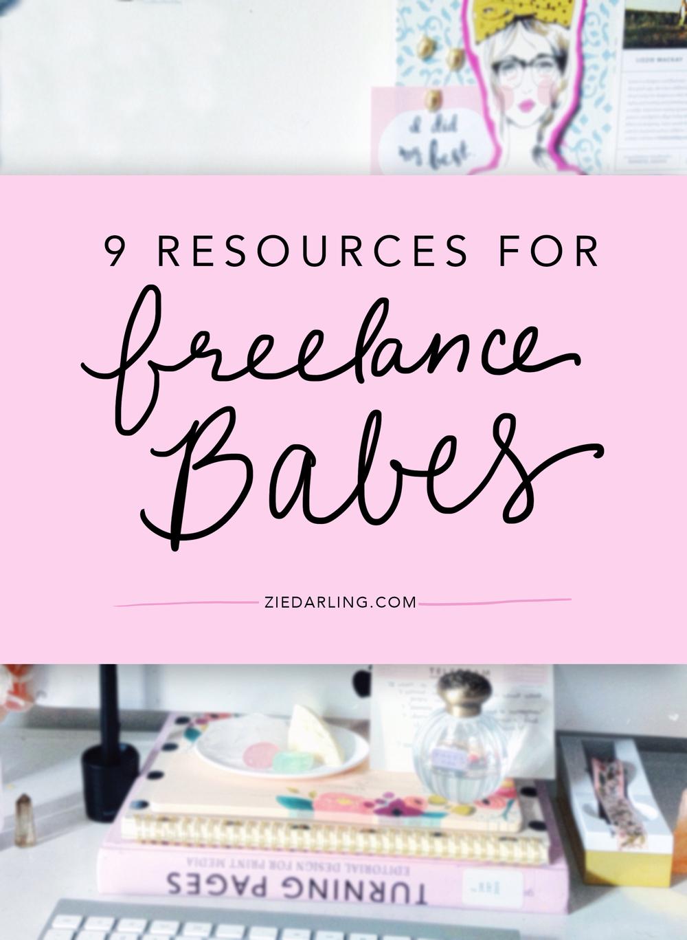 ziedarling.com | 9 resources for freelancers