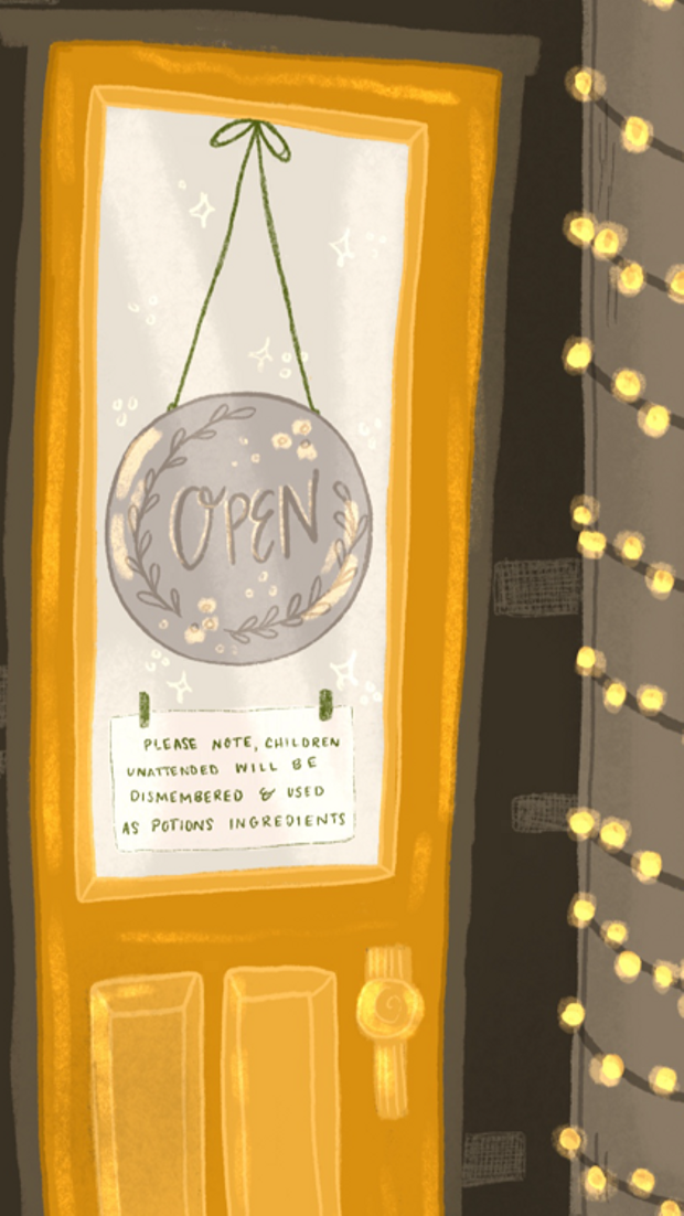 ziedarling.com || detail from the potions shop