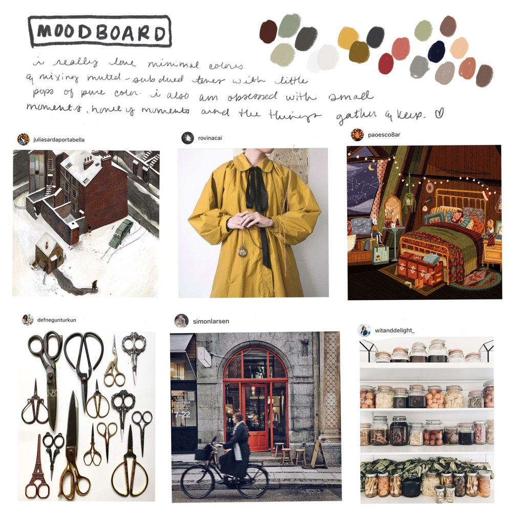 ziedarling.com || what's currently inspiring me moodboard
