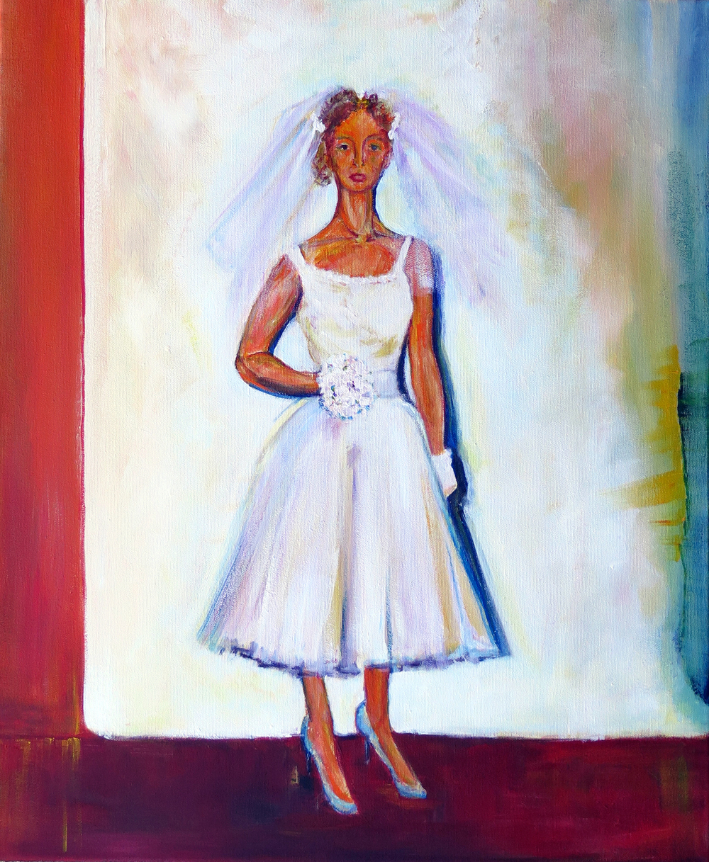 "Lee at 24. The Wedding.  Acrylic on Canvas, 24"" x 20"" 2014"