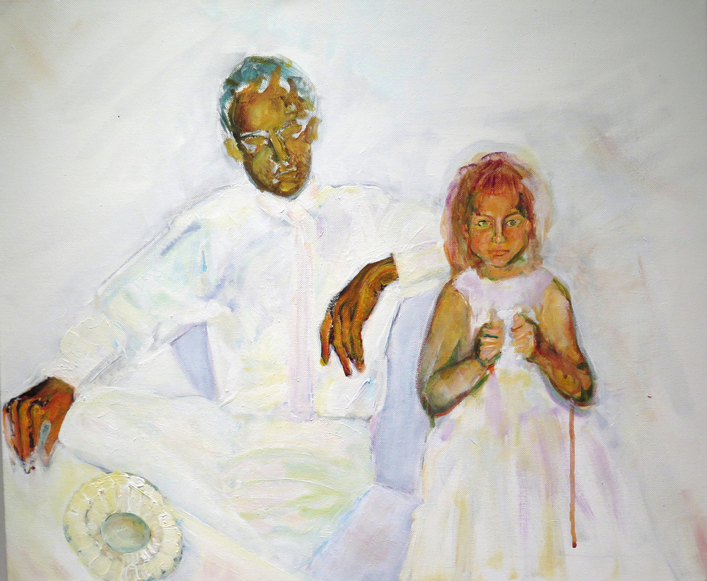 "Allan and Diane.  Acrylic on Canvas, 20"" x 24"", 2013"