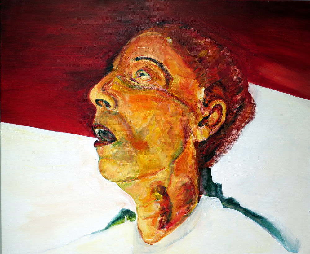 "Lee at 81.  Acrylic on Canvas, 24"" x 20"", 2012"