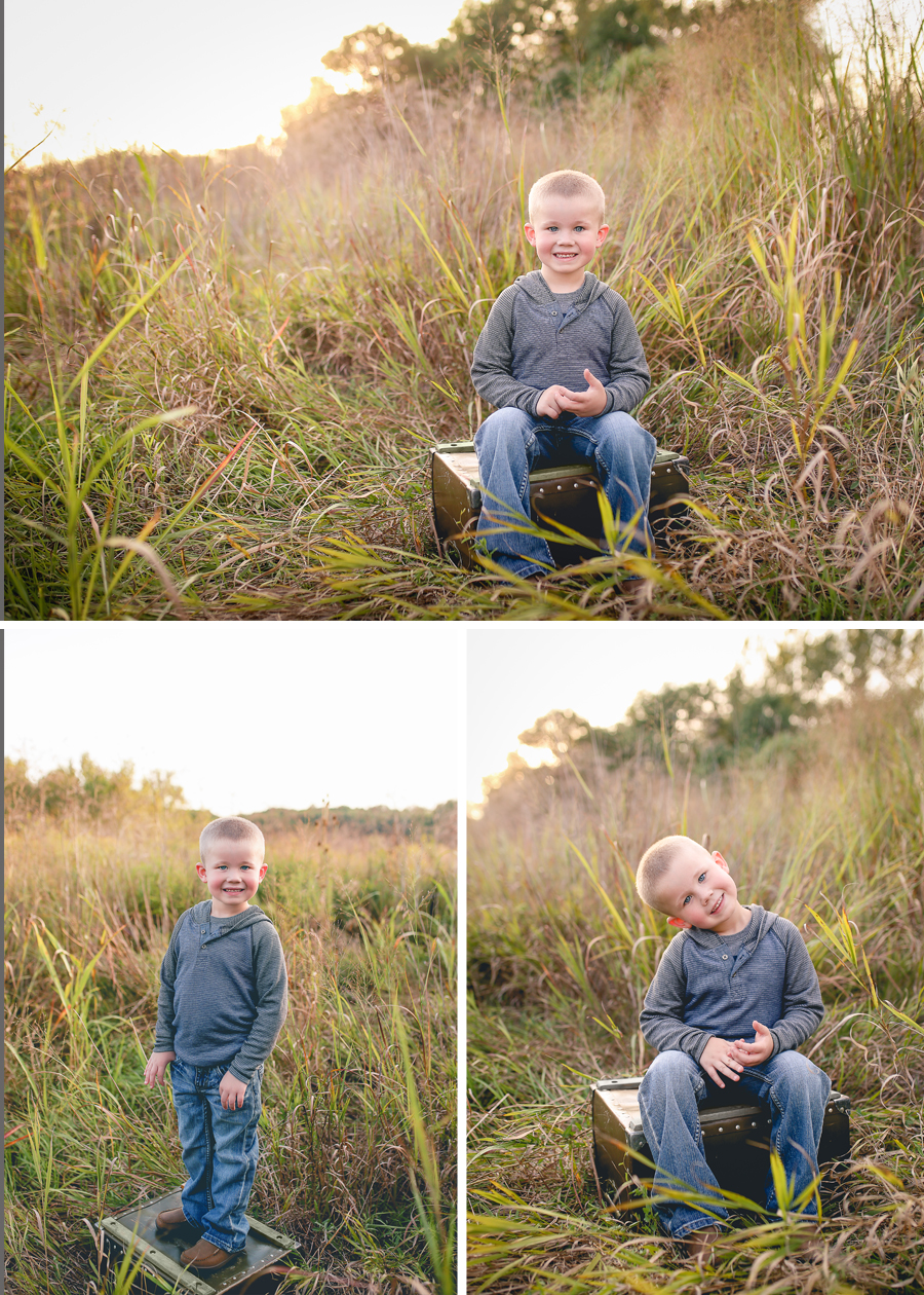 I usually shoot most of my pictures horizontal and am trying to be more intentional in shooting vertically.  During our shoot, Landen would turn his head every time I turned my camera! I couldn't leave that image out-it was so funny to watch him!