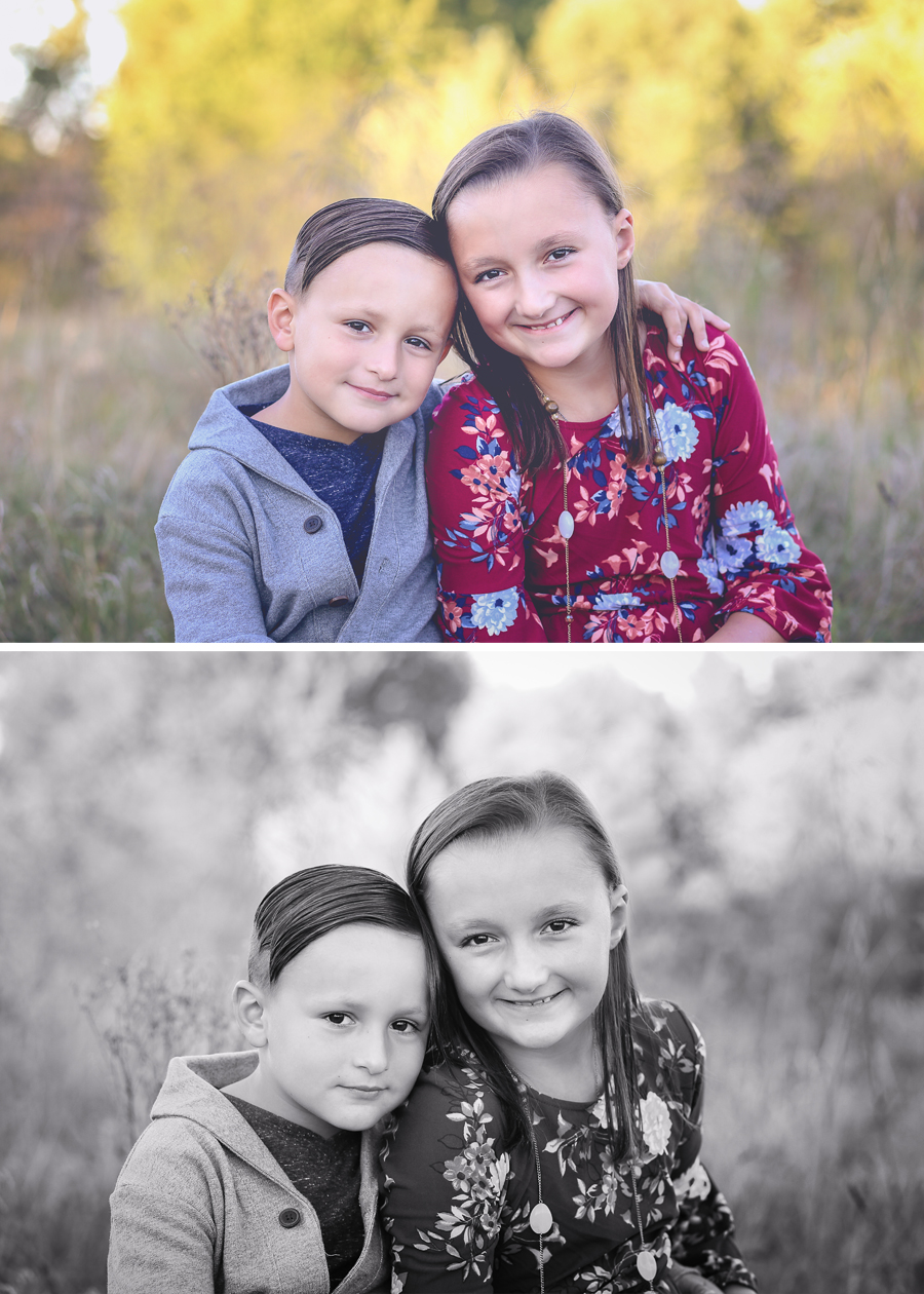 These two...some of the most well behaved kids!  Their outfits were on point and seriously, the camera loves them!  Check out Cullen's smirk in that black and white!