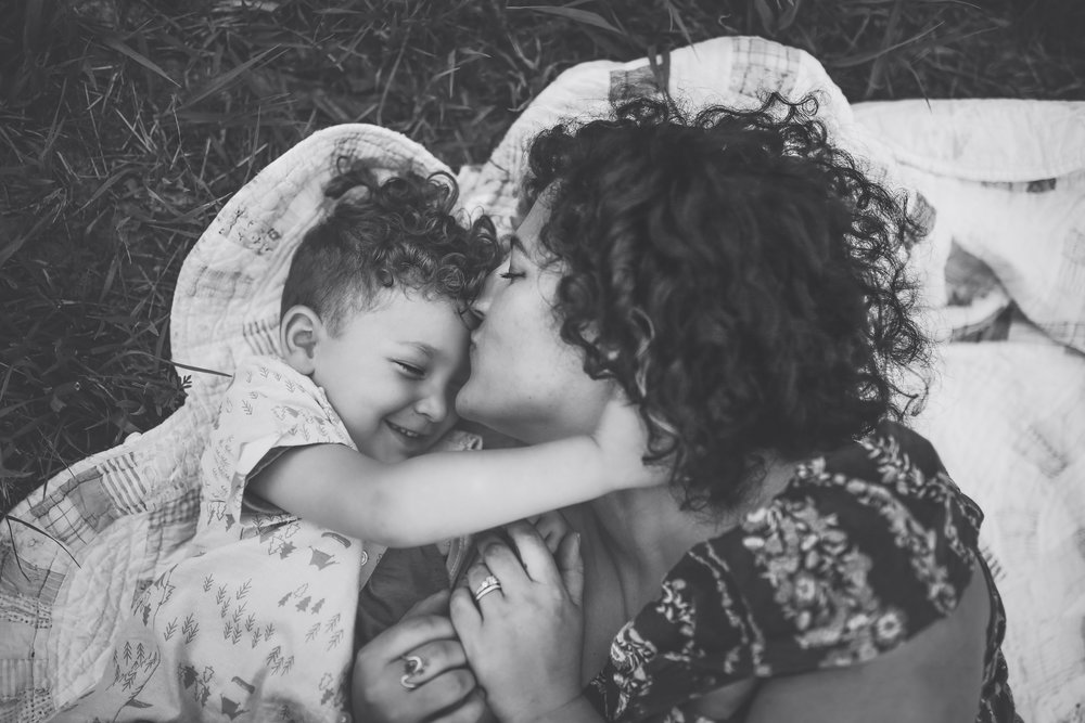 I want a picture like this with each of my kiddos....his hand on her neck gets me!