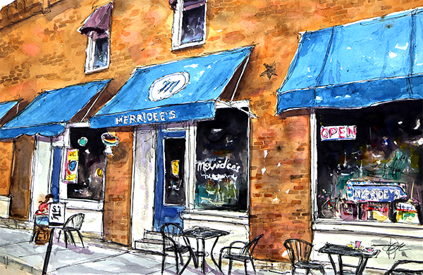 My 4th Avenue Favorite   15 X 22  Watercolor   Available Directly from Artist:  $399 Prints Available:  http://fineartamerica.com/featured/my-4th-ave-favorite-tim-ross.html