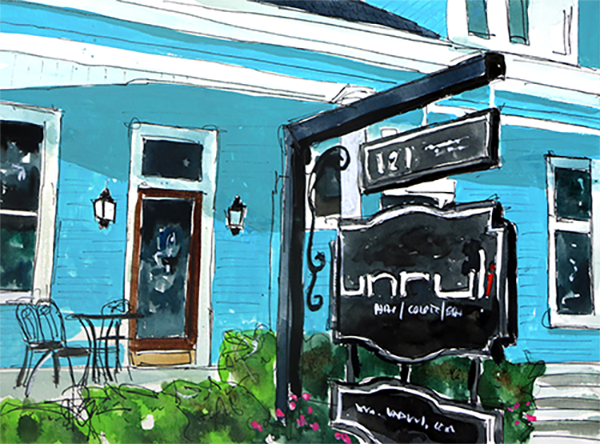 """Truly UNRULI""    10 X 13 Watercolor   SOLD! Prints Available:  http://fineartamerica.com/featured/truly-unruli-tim-ross.html"