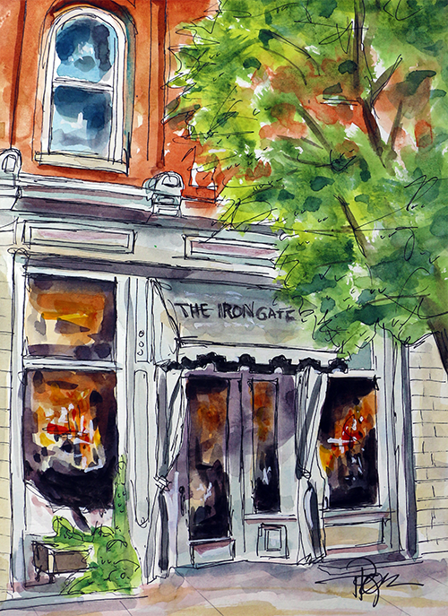 """The Iron Gate""   13 X 10  Watercolor      SOLD!   Prints Available:    http://fineartamerica.com/featured/the-iron-gate-tim-ross.html"