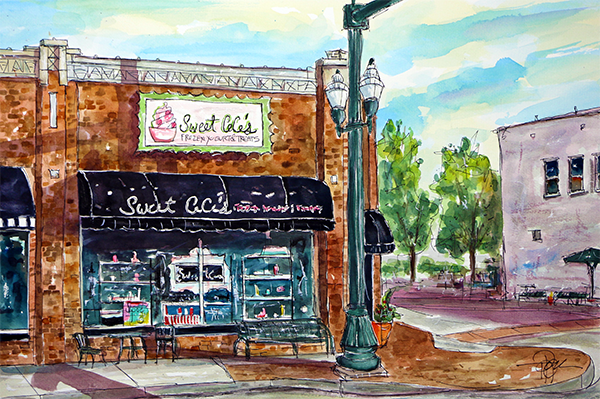 """Sweet Cece's   15 X 22 Watercolor        $249 Prints Available:       http://fineartamerica.com/featured/sweet-ceces-franklin-tim-ross.html"