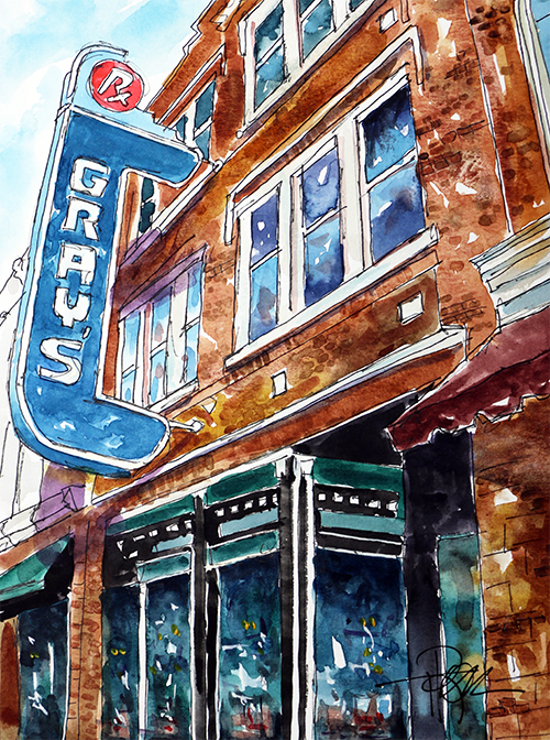 """Welcome to Franklin""   13 X 10  Watercolor    $149 Prints Available:   http://fineartamerica.com/featured/welcome-to-franklin-tim-ross.html"