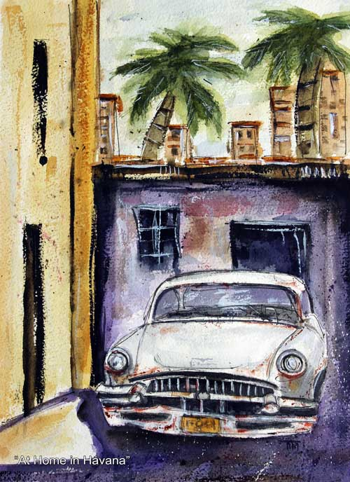 """At Home in Havana""    13 x 10 Watercolor    Available:  $199       BUY PRINTS"
