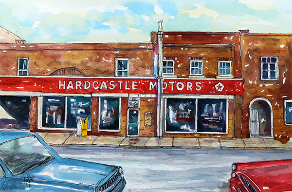 """Main Street Memories""   15 X 22   Watercolor    SOLD! Prints Available:  http://fineartamerica.com/featured/main-street-memories-tim-ross.html?newartwork=true"