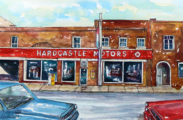 """Main Street Memories""  15 X 22  Watercolor   SOLD! Prints Available:    http://fineartamerica.com/featured/main-street-memories-tim-ross.html?newartwork=true"
