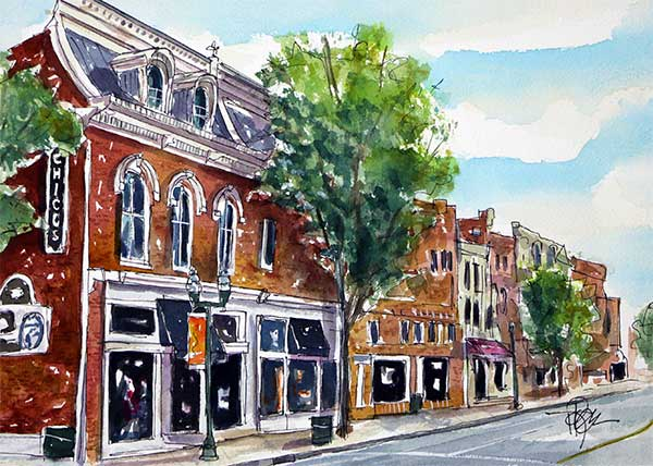 """First Light in Franklin""    11 X 15 Watercolor   SOLD!   Prints Available:    http://fineartamerica.com/featured/first-light-in-franklin-tim-ross .html"