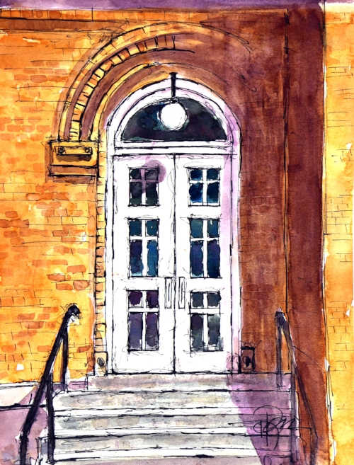 """The Lord's Door""    13 X 10  Watercolor   $129 Prints Available:  http://fineartamerica.com/featured/adoooorable-tim-ross.html"