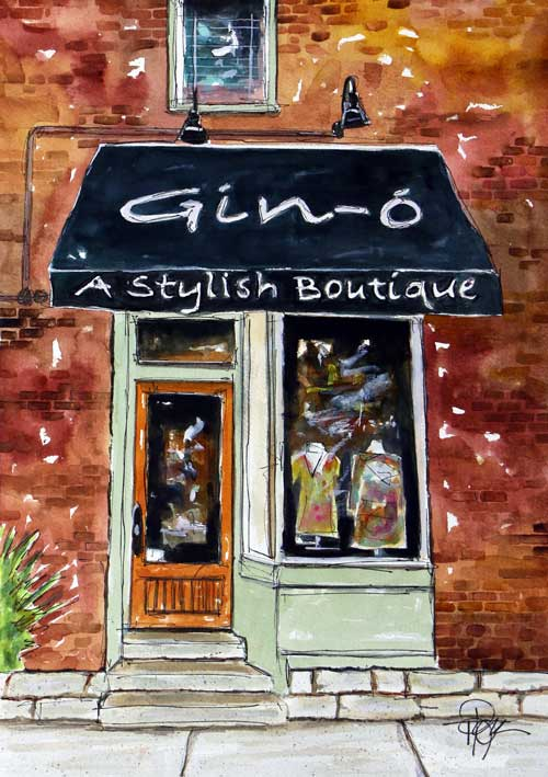 """Gin-Ohhhhh!""   15 X 11 Watercolor  $129 Prints Available:  http://fineartamerica.com/featured/gin-ohhhhhhhhh-tim-ross.html"